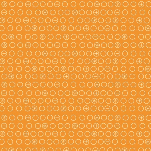 Riley Blake Designs - Boy Crazy Circles in Orange