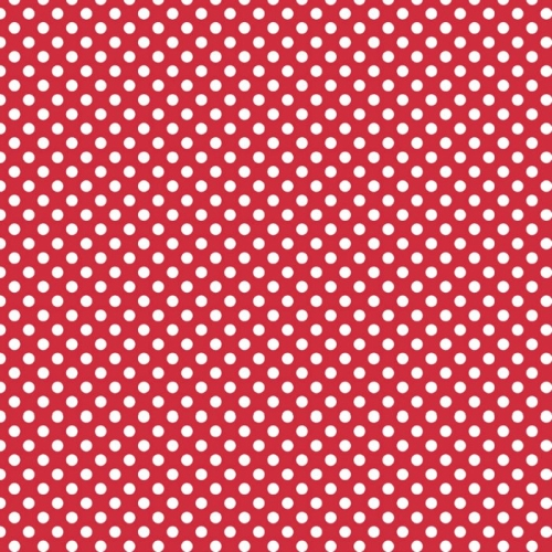 Riley Blake Designs - Small Dots / Spots in Red