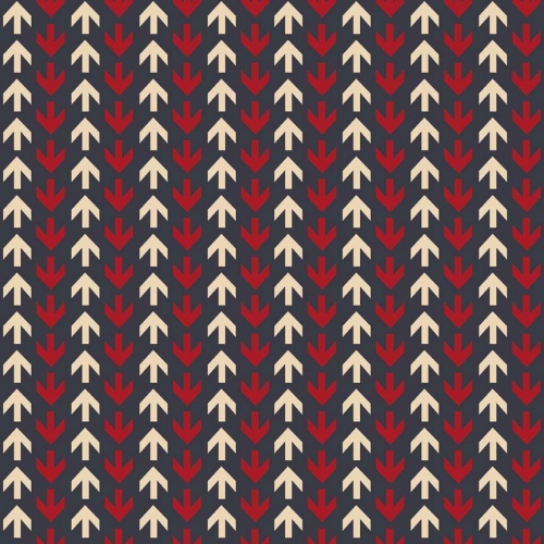 Riley Blake Designs - Detour Arrows in Navy *** REMNANT 1.54 METRE PIECE ***