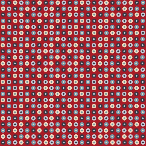 Riley Blake Designs - Detour Dots in Red *** REMNANT 2.11 METRE PIECE ***