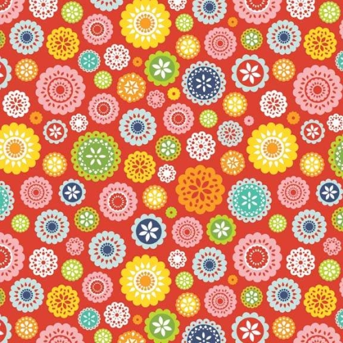 Riley Blake Designs - Lazy Days - Floral in Red