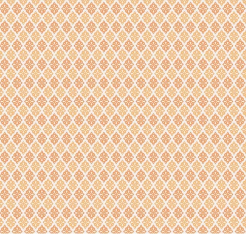 Riley Blake Designs - A Beautiful Thing - Diamonds in Vintage Orange *** REMNANT 3 METRE PIECE ***