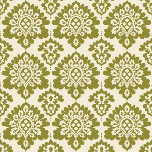 Riley Blake Designs - Lost and Found Christmas Damask in Green