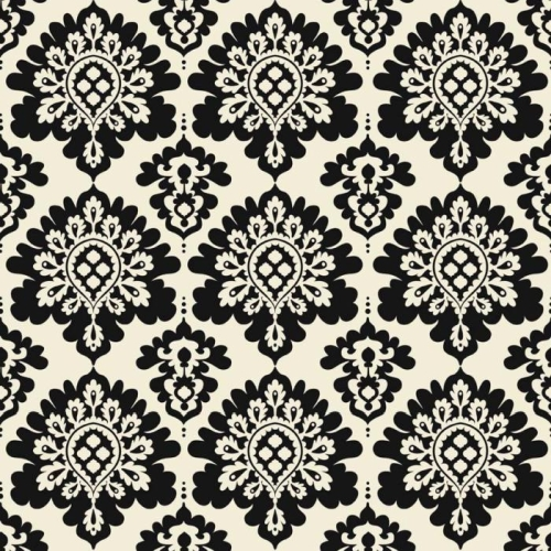 Riley Blake Designs - Lost and Found Christmas Damask in Black