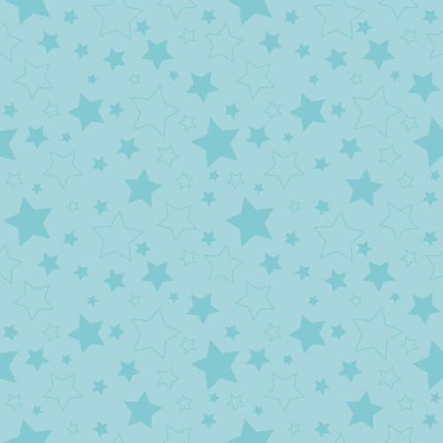 Riley Blake Designs - Cotton Stars Aqua