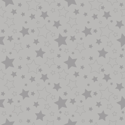 Riley Blake Designs - Cotton Stars Grey