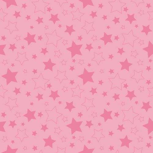Riley Blake Designs - Cotton Stars Hot Pink