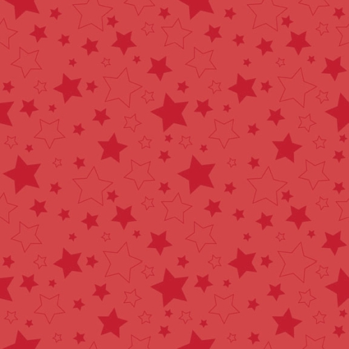 Riley Blake Designs - Cotton Stars Red