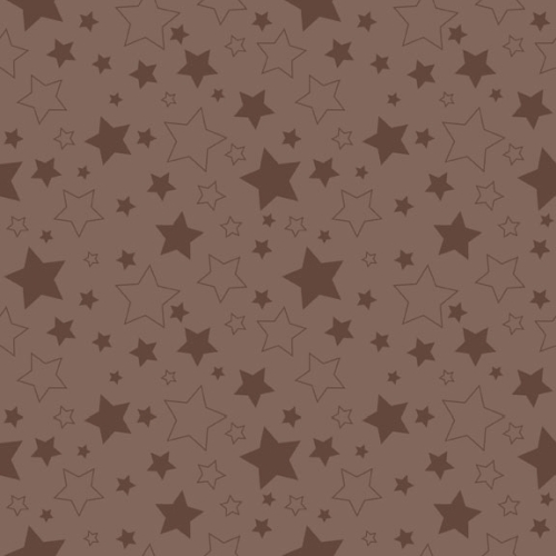 Riley Blake Designs - Cotton Stars Brown