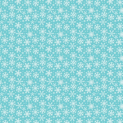 Riley Blake Designs - Santa Express Snowflakes in Blue