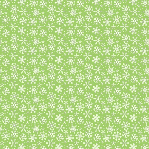 Riley Blake Designs - Santa Express Snowflakes in Green