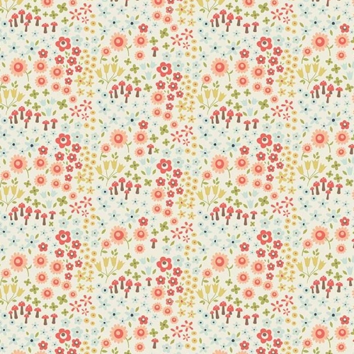 Riley Blake Designs - Woodland Spring Petal in Cream