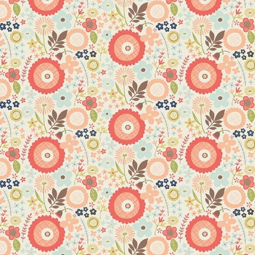 Riley Blake Designs - Woodland Spring Floral in Cream