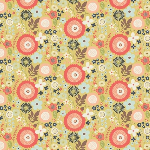 Riley Blake Designs - Woodland Spring Floral in Green