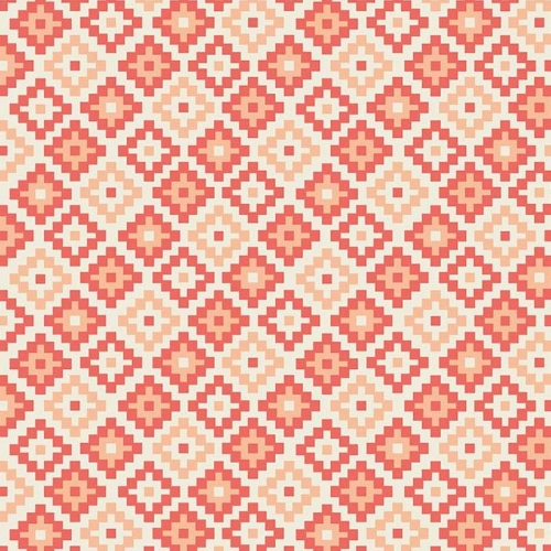 Riley Blake Designs - Woodland Spring Geometric in Coral