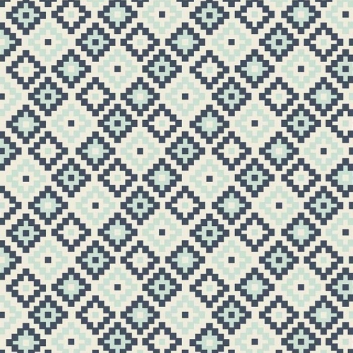 Riley Blake Designs - Woodland Spring Geometric in Navy