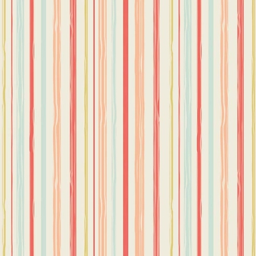 Riley Blake Designs - Woodland Spring Stripe in Coral
