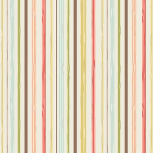 Riley Blake Designs - Woodland Spring Stripe in Cream