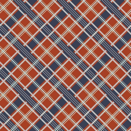 Riley Blake Designs - Keep On Groovin - Plaid in Orange