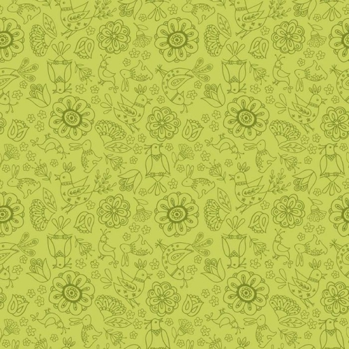 Riley Blake Designs - Dutch Treat - Floral Green