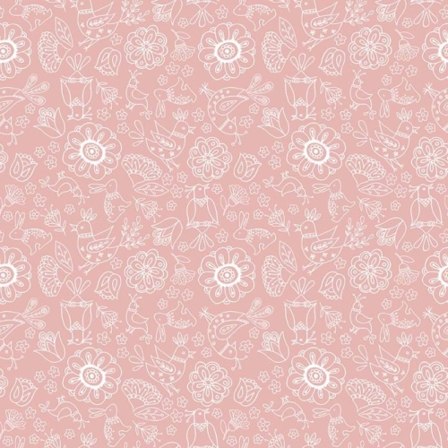 Riley Blake Designs - Dutch Treat - Floral Pink