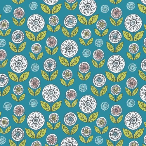 Riley Blake Designs - Dutch Treat - Garden Blue