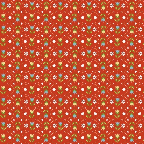 Riley Blake Designs - Dutch Treat - Stripe Red