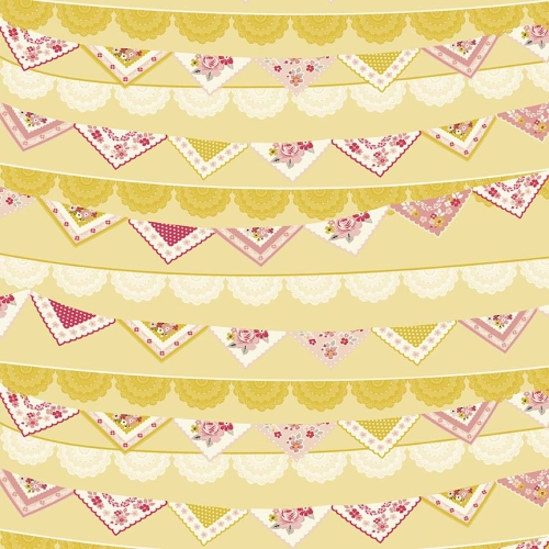 Riley Blake Designs - Vintage Daydream Lace Bunting in Gold