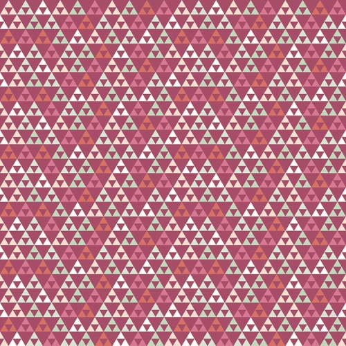 Riley Blake Designs - On Trend Triangle in Raspberry