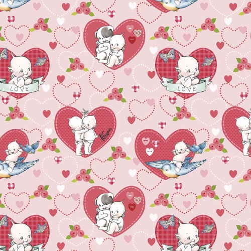 Riley Blake Designs - Kewpie Love Main Pink