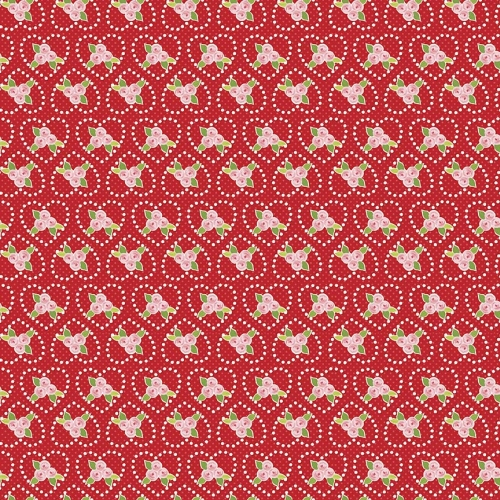 Riley Blake Designs - Kewpie Love Rose Red