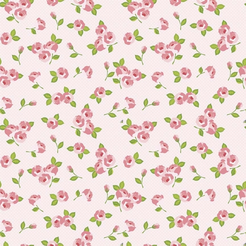 Riley Blake Designs - Kewpie Love Floral Pink