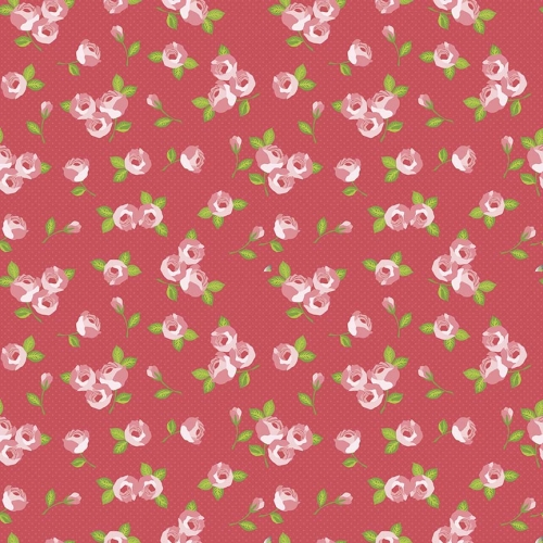 Riley Blake Designs - Kewpie Love Floral Red
