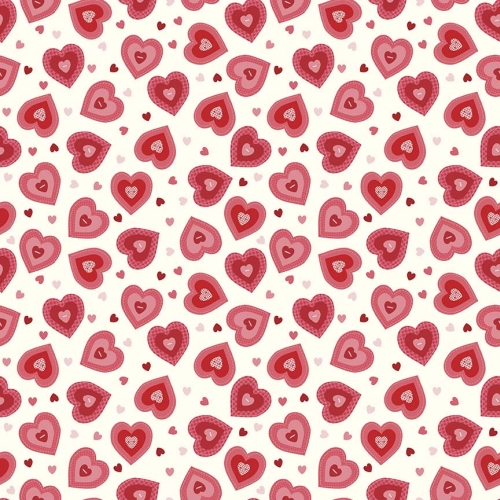 Riley Blake Designs - Kewpie Love Heart Cream