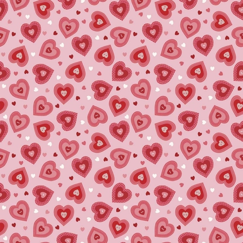 Riley Blake Designs - Kewpie Love Heart Pink
