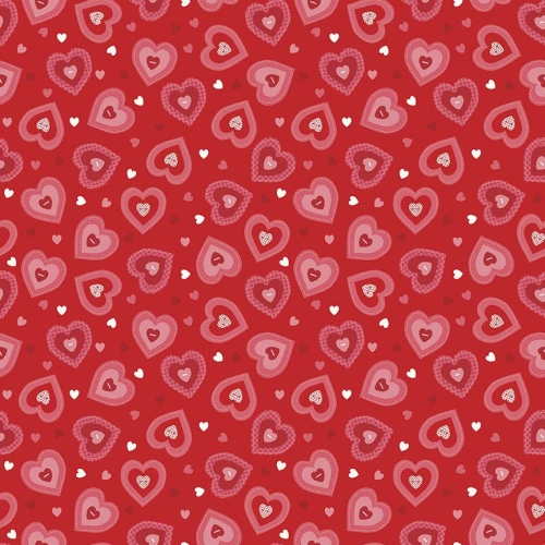 Riley Blake Designs - Kewpie Love Heart Red