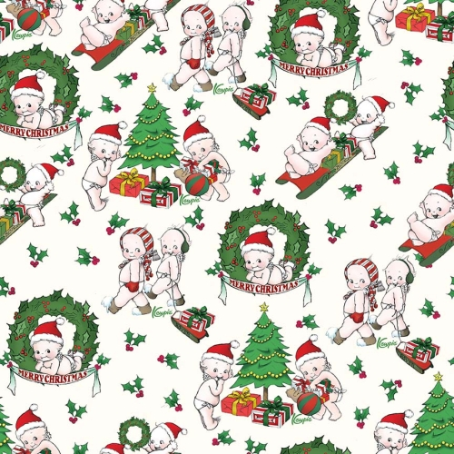 Riley Blake Designs - Kewpie Christmas Main Cream