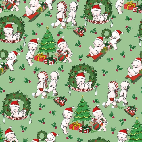 Riley Blake Designs - Kewpie Christmas Main Green
