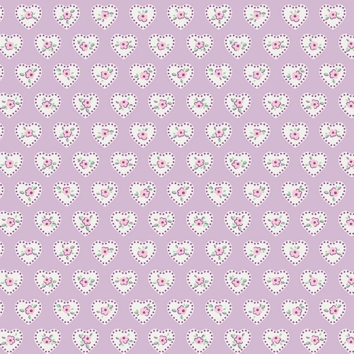 Penny Rose Fabrics - Little Dolly by Elea Lutz - Hearts in Lilac