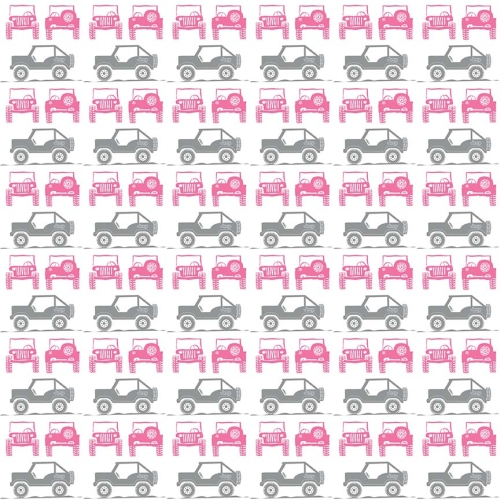 Riley Blake Designs - J is for Jeep Jeeps in White