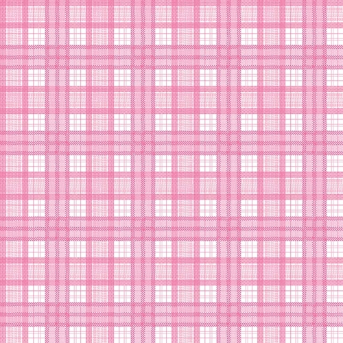 Riley Blake Designs - J is for Jeep Plaid in Pink