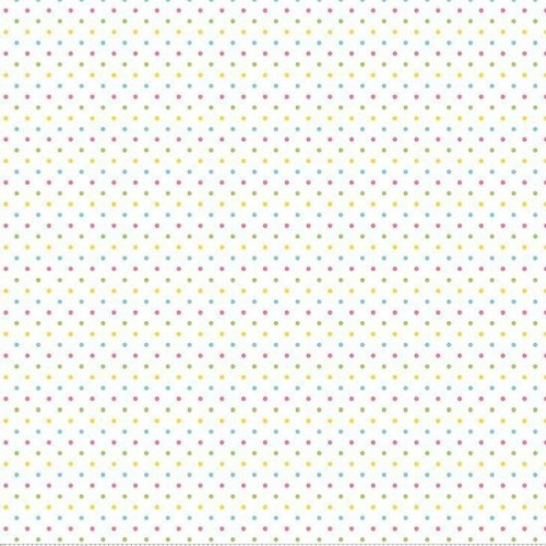Riley Blake Designs - Swiss Dot Girl on White