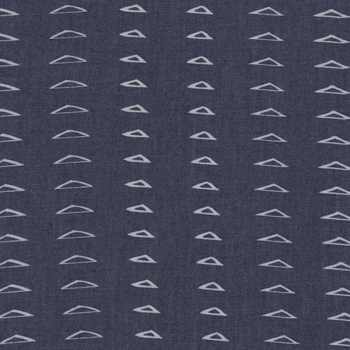 Art Gallery Fabrics - The Denim Studio - Distressed Triangles  *** FAT QUARTER ***