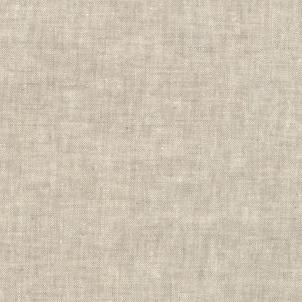 Robert Kaufman - Essex Yarn Dyed Linen/Cotton Blend - Flax  *** REMNANT PIECE 92CM X 112CM ***