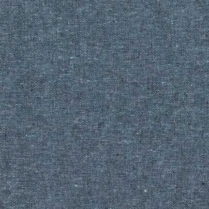 Robert Kaufman - Essex Yarn Dyed Linen/Cotton Blend - Nautical *** REMNANT PIECE 89CM X 112CM ***