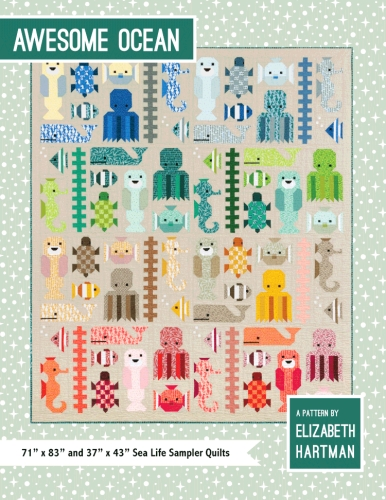 Elizabeth Hartman - Oh Fransson - Awesome Ocean Quilt Pattern