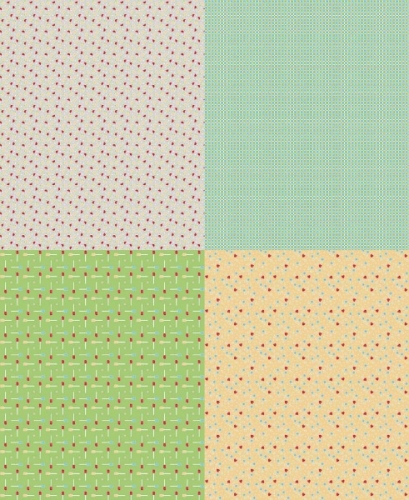 Riley Blake Designs - Bake Sale by Lori Holt- Fat Quarter Panel in Grey
