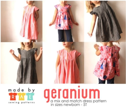 Made By Rae - Geranium Dress Pattern Size 0 to 5