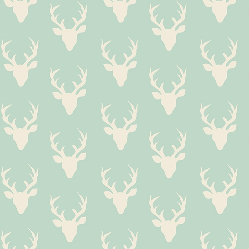 Art Gallery - Hello, Bear - Tiny Buck Forest in Mint