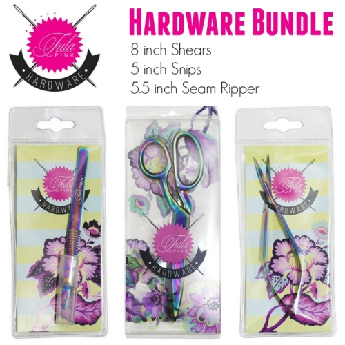 Tula Pink Hardware - Set of 3 Shears, Snips and Seam Ripper (receive seam ripper for half price)